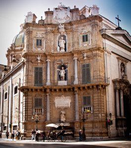 Piazza Quattro Canti in Palermo